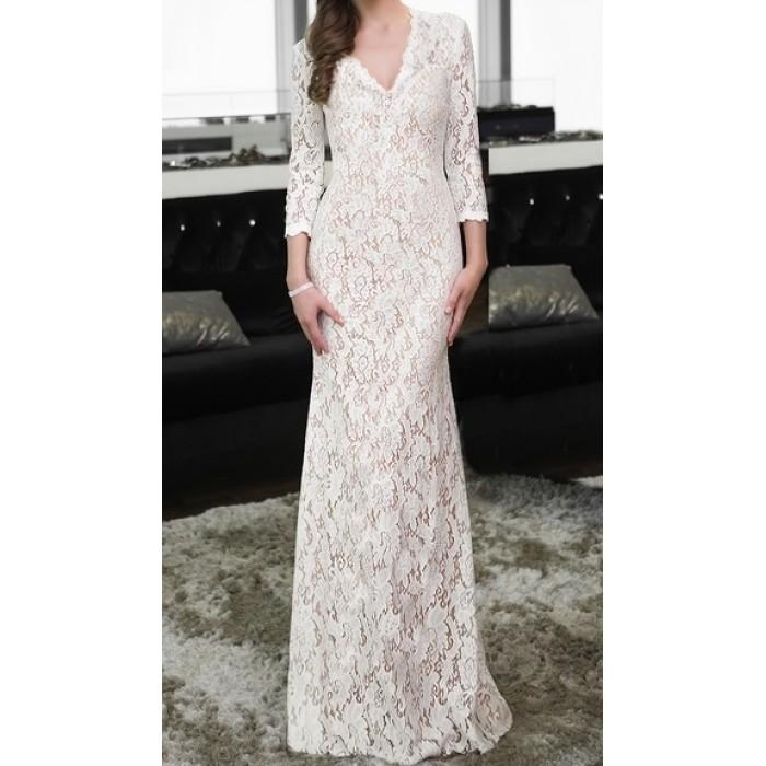 kate model uzun balık dantel elbise