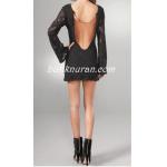 sırt dekolte dantel elbise