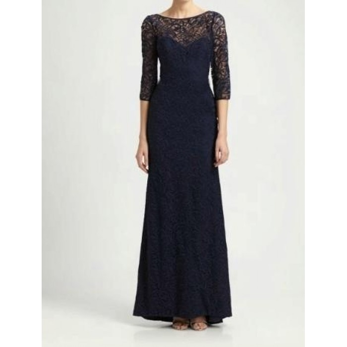 sırt v uzun abiye dantel elbise