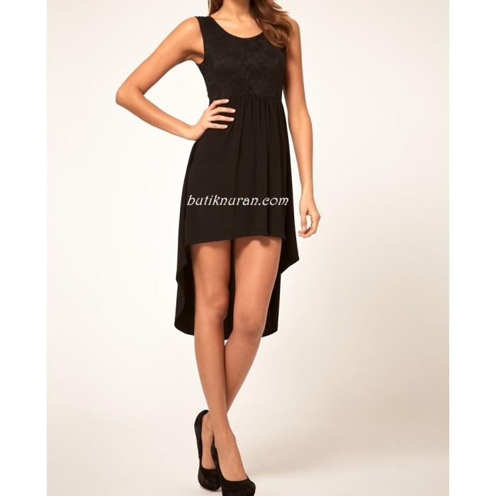 askılı asimetrik etekli elbise
