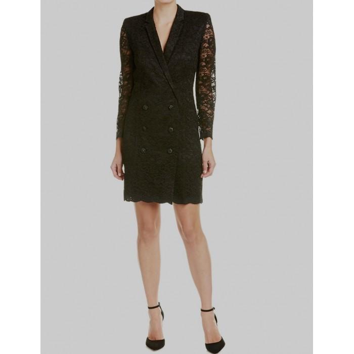 dantel kruvaze ceket elbise