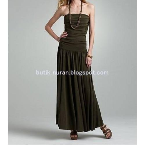 drapeli harika straples elbise