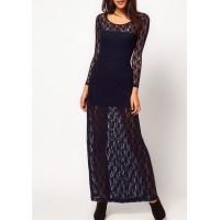 hippi model dantel uzun elbise