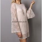 ispanyol kol mini dantel elbise