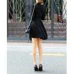 japon style kloş etekli kruvaze elbise