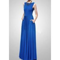 sırt dekolte kloş etekli abiye elbise