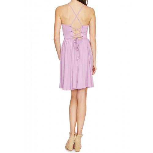 şık rahat yazlık ipli zımbalı mini elbise