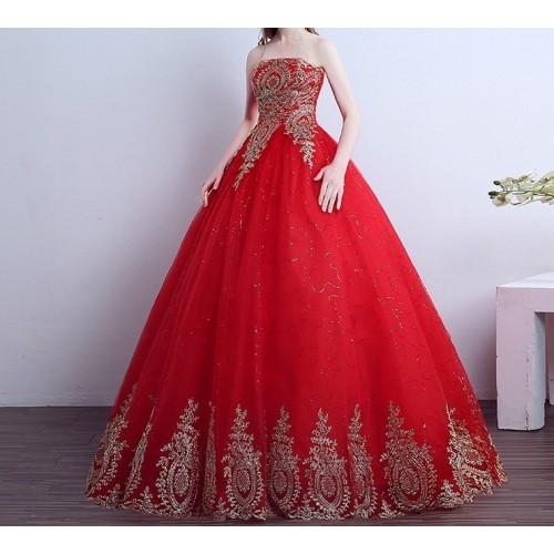 kına elbisesi nişanlık kırmızı prenses