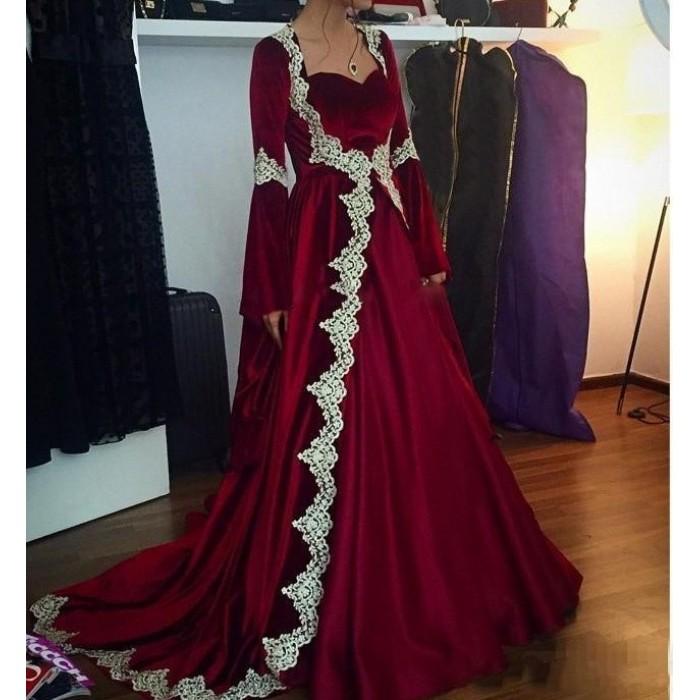 kadife kına elbisesi kaftan bindallı