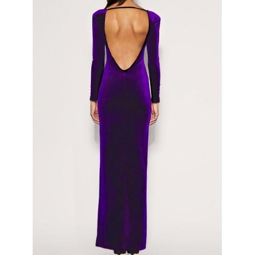 kadife sırt v dekolte elbise