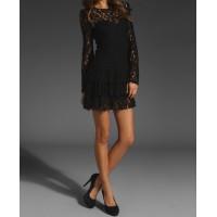 katlı etekli dantel abiye mini elbise