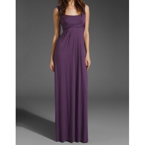 kemerli askılı uzun elbise