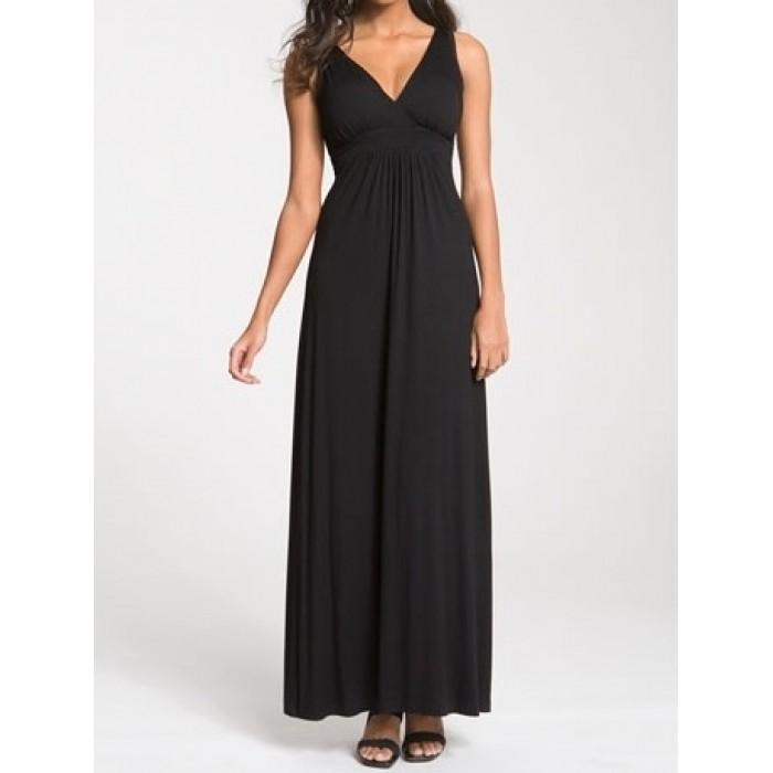 kruvaze askılı uzun elbise