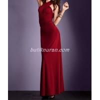 multi wrap uzun çan etekli elbise