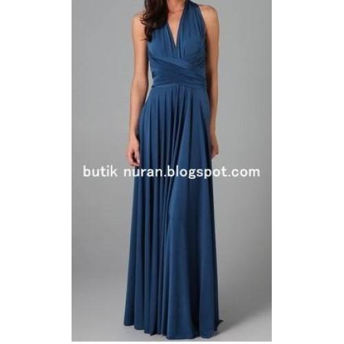 victoria tarz çok kullanımlı kloş etekli uzun harika elbise