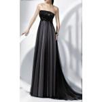 payetli straplez uzun kuyruklu elbise