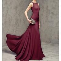 sırt v düğmeli balık kolsuz abiye elbise