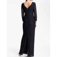 sırt v uzun dantel elbise