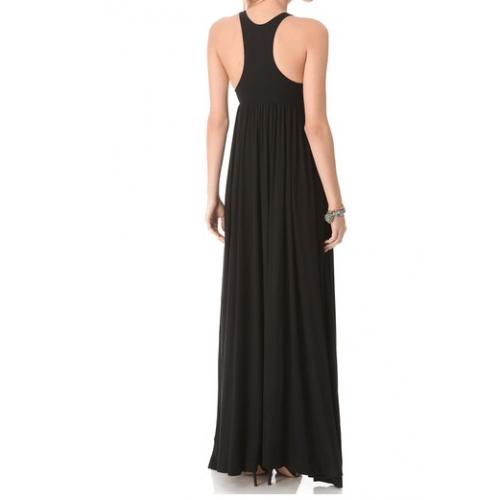 spor askılı büzgülü uzun yazlık elbise
