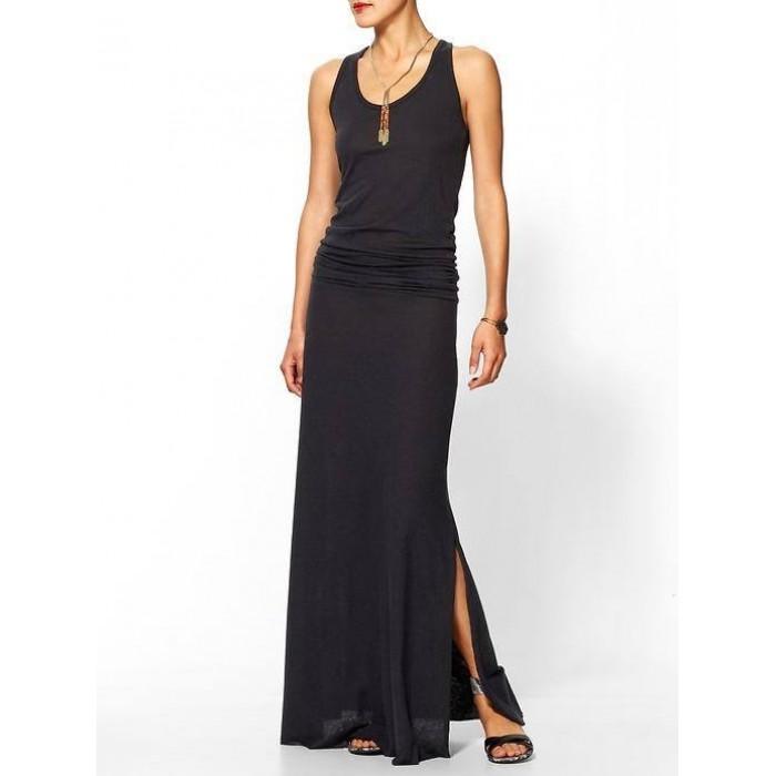 sporcu sırt uzun yırtmaçlı elbise