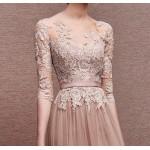 uzun abiye elbise dantelli astarı yırtmaçlı