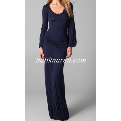 uzun kol abiye elbise