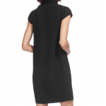 v yaka mini elbise